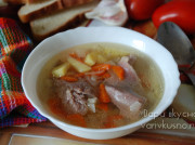 Прозрачный суп из индейки в мультиварке-скороварке Brand 6051