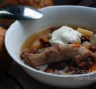 Куриный суп с фасолью в мультиварке-скороварке