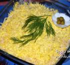 Салат из горбуши консервированной «Мимоза»