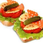 веселые бутерброды для детей фото