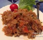 Рецепт тушеной капусты с рисом для Поста