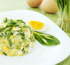 Весенние салаты с черемшой
