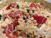Салат с пророщенным нутом и помидорами