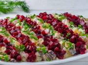 Салат вместо селедки под шубой